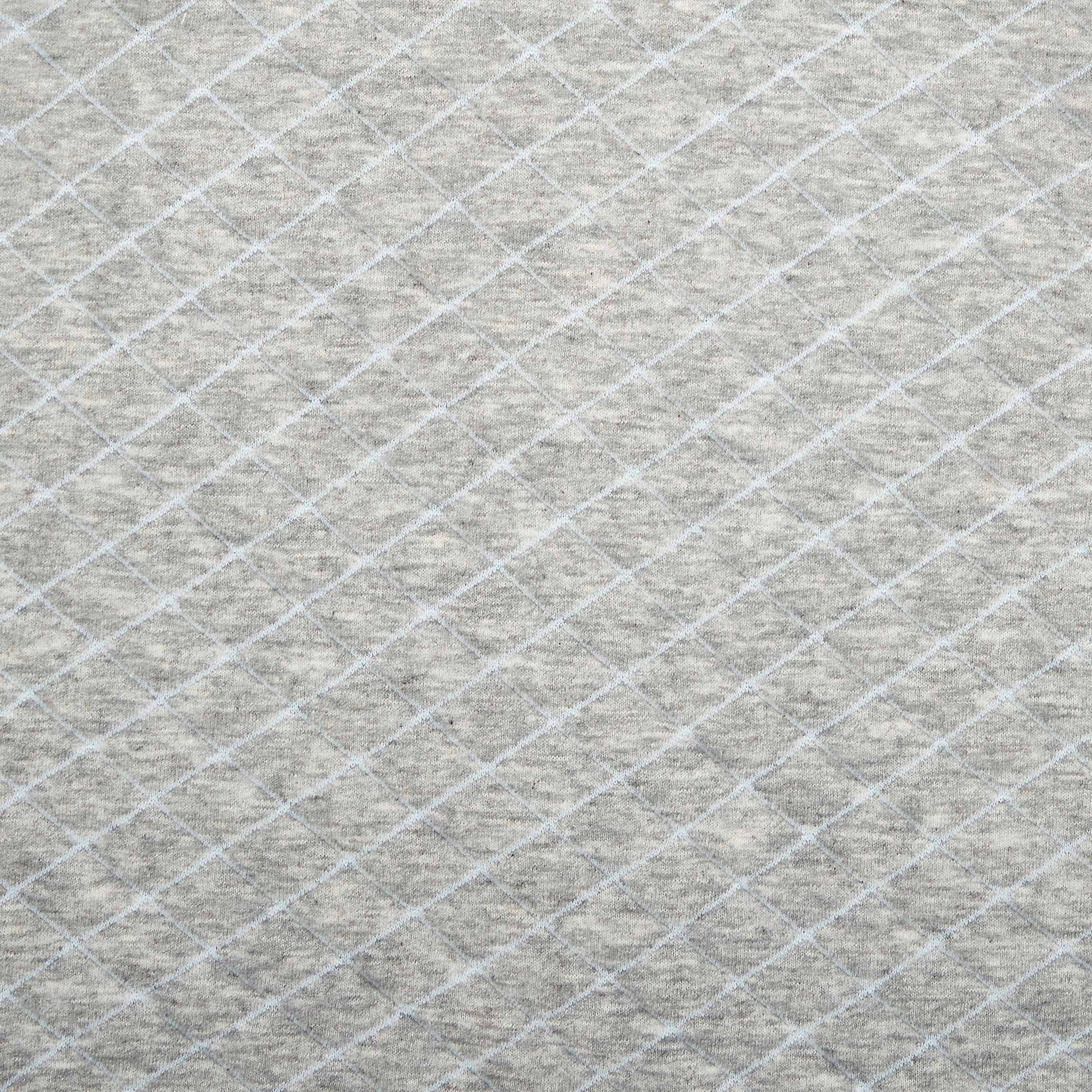 heather grey - blue stitch