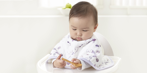 a bib and a burp cloth in one