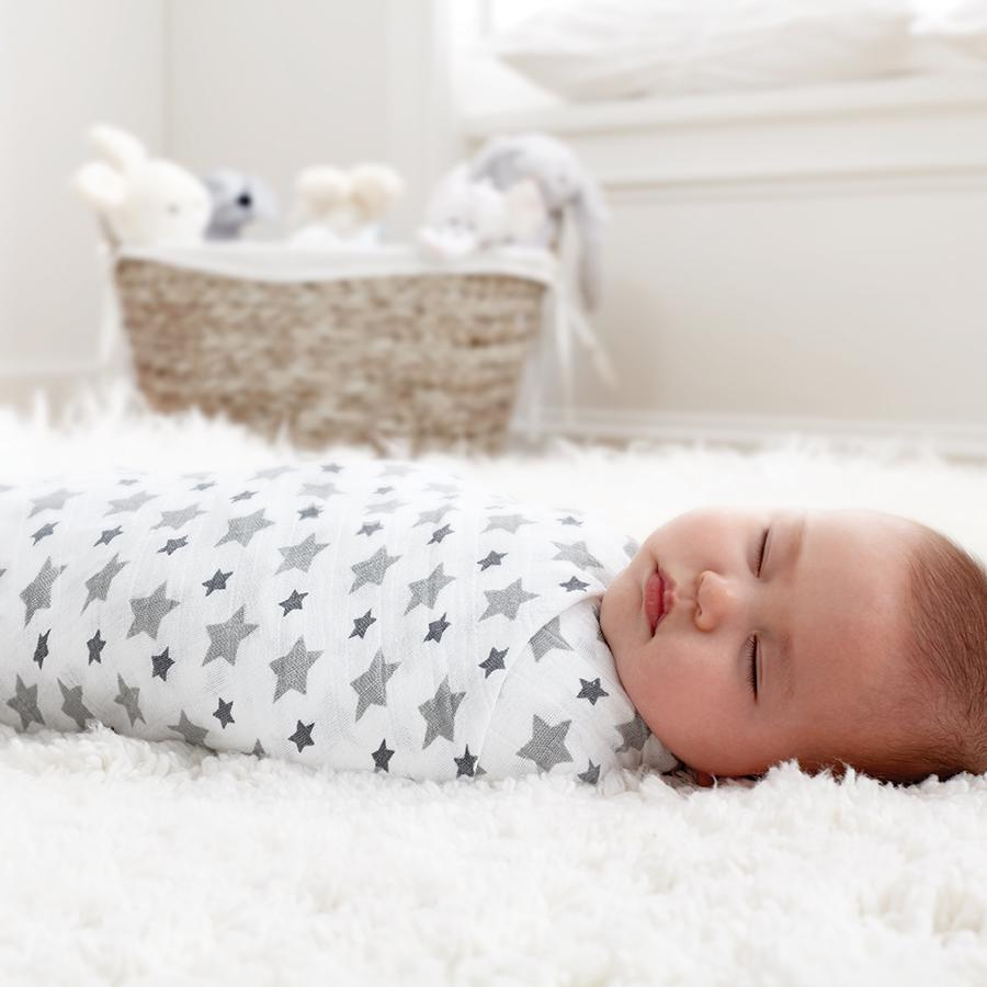 swaddle-muslin-baby-sleep-grey-stars