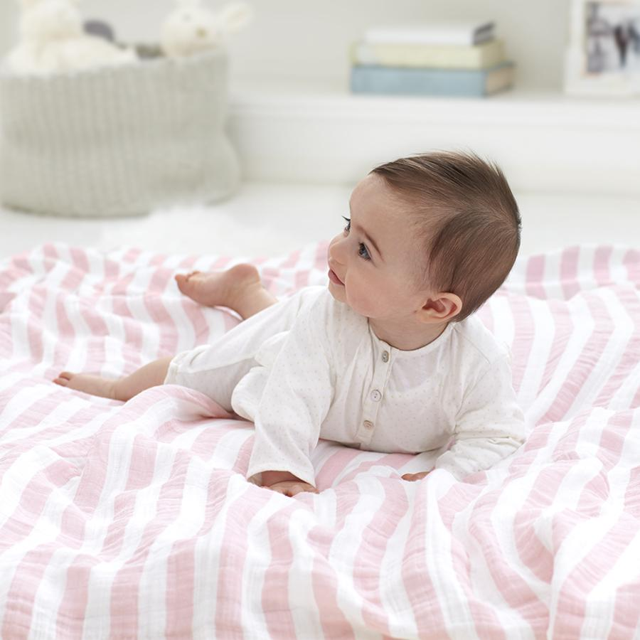 swaddle-muslin-baby-crawl-pink-stripes