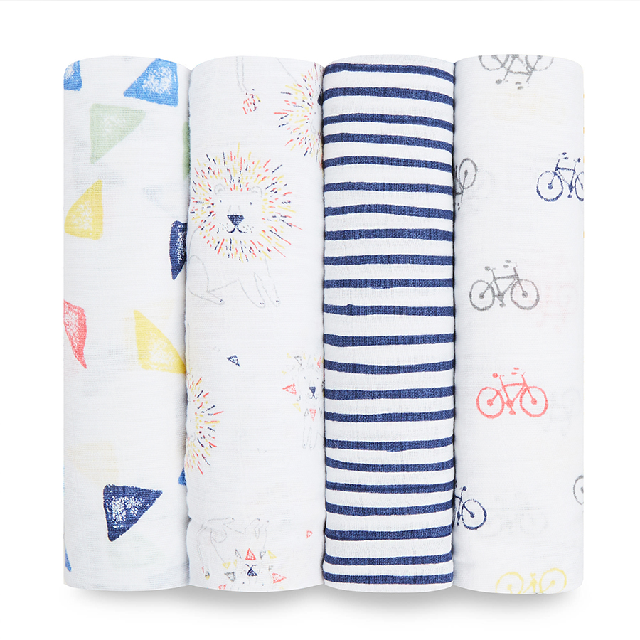 muslin-swaddle-lion-cycles-blue-yellow-orange