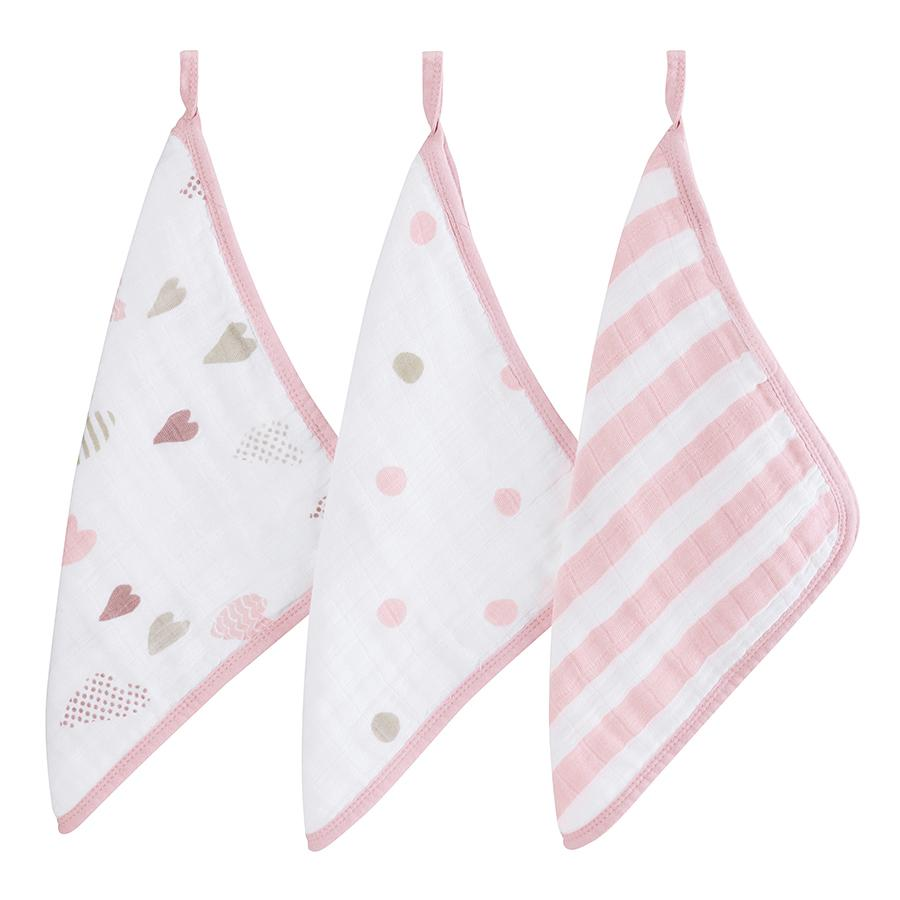 washcloth-muslin-hearts-stripes-dots-pink