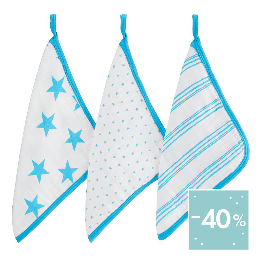 washcloth-muslin-stars-stripes-blue