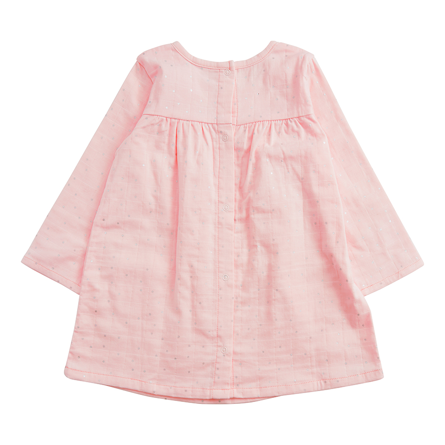 muslin-baby-clothing-pink-long-pocket-dress-back