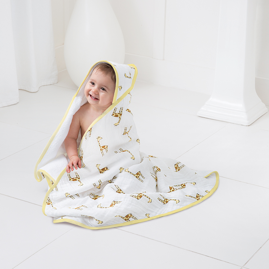 muslin-hooded-towel-set-jungle-jam-giraffe-yellow