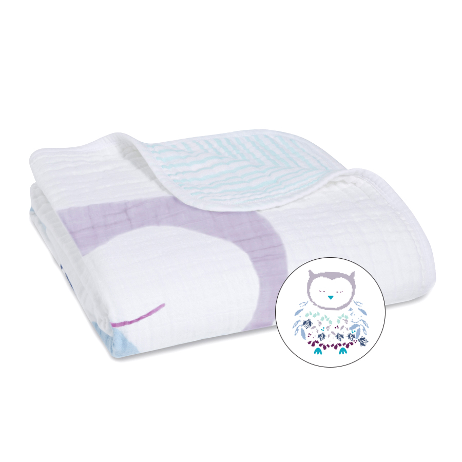 muslin-baby-blanket-purple-owl