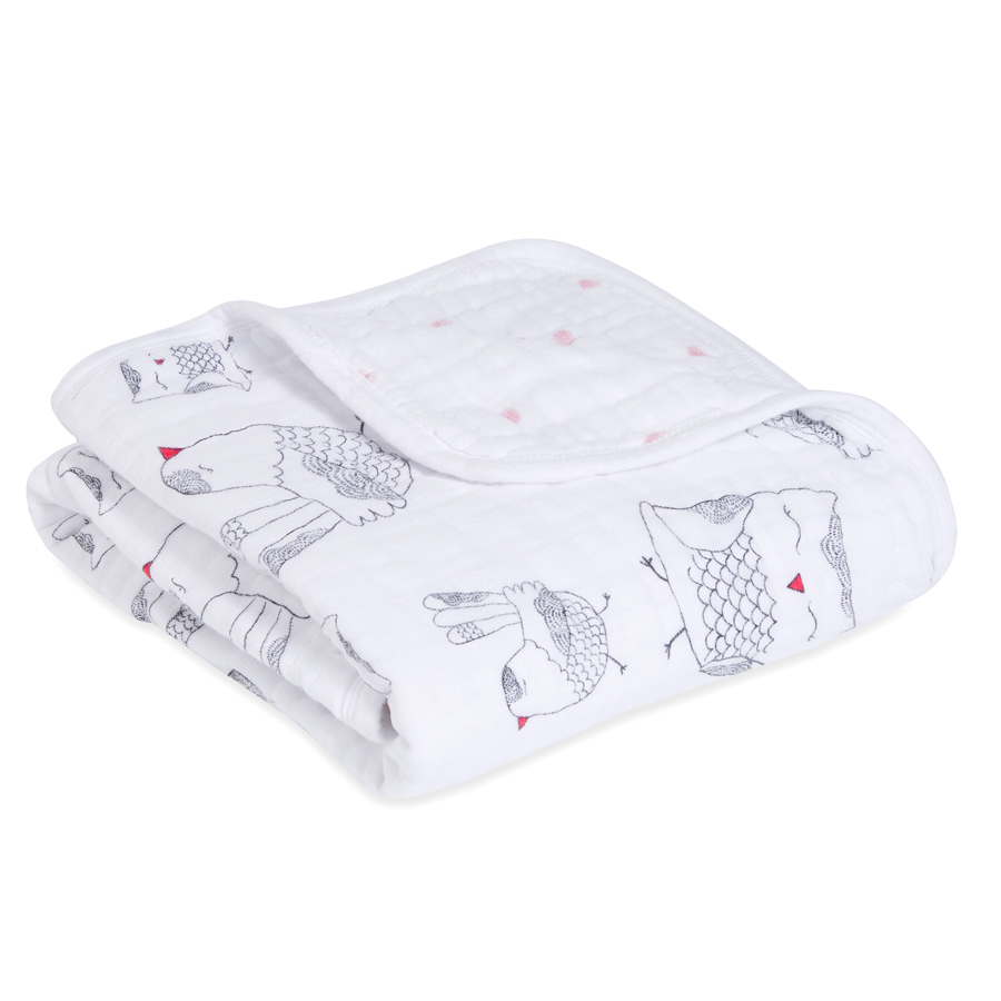 muslin-stroller-blanket-black-white-birds