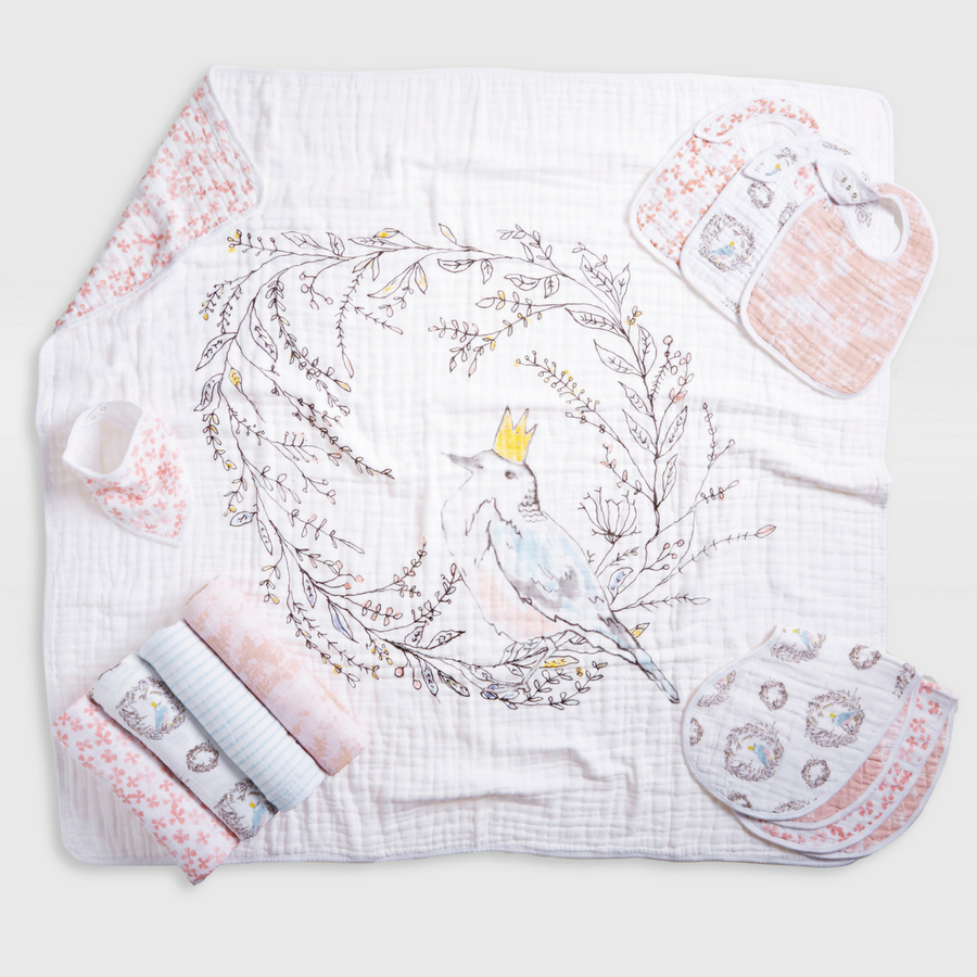 baby-blanket-muslin-bird-nest-pink-flowers