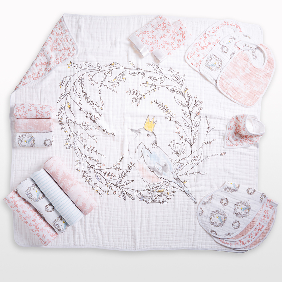 bib-muslin-snap-bird-flower-pink-bow