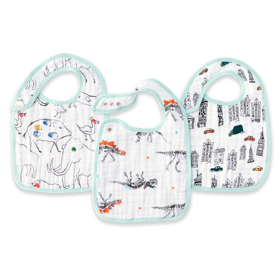 muslin-baby-snap-bib-3pk-colour-pop-city-dino-animal