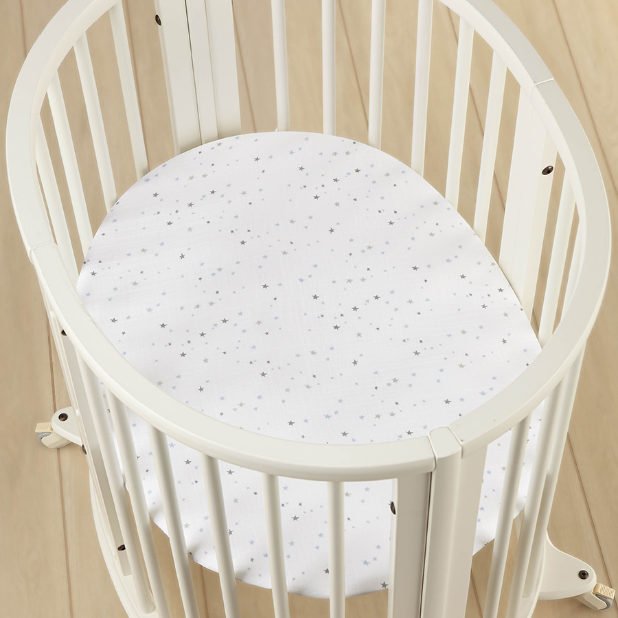 crib-sheet-stokke-muslin-mini-blue
