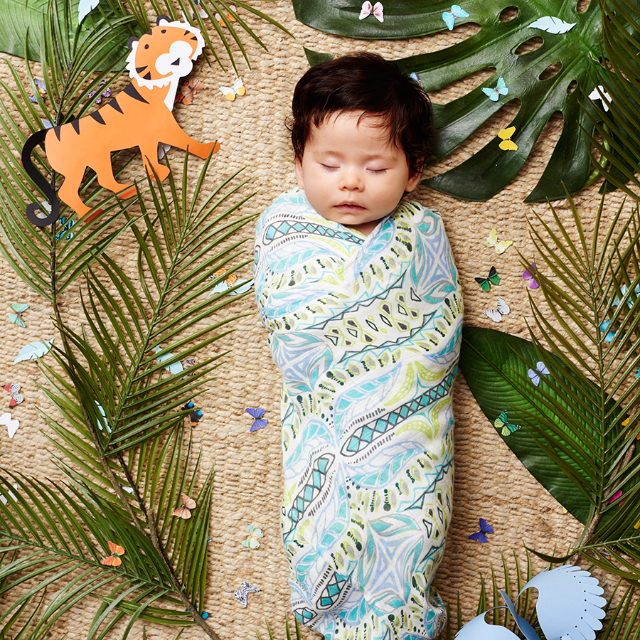 swaddle-muslin-bamboo-blue-green