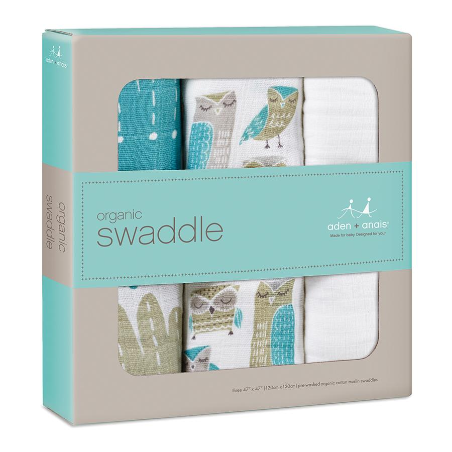 swaddle-muslin-organic-blue-owl-wise-guy