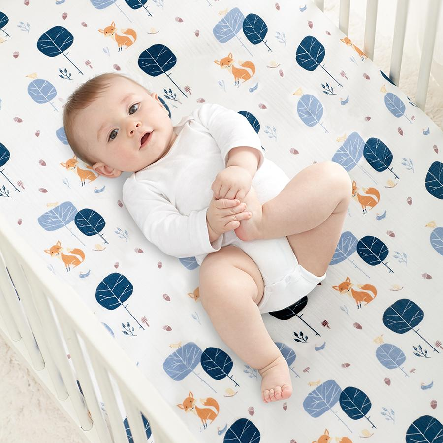 crib-sheet-organic-muslin-baby-fox