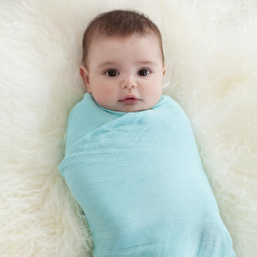 Silky Soft Swaddles | Azure 3-Pack
