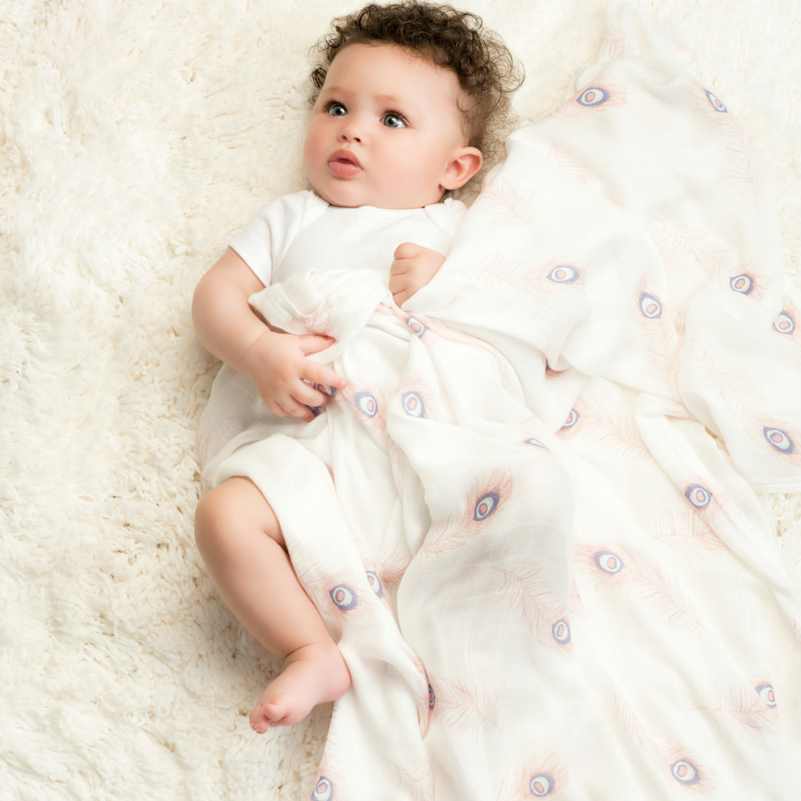 swaddle-muslin-bamboo-feather-flower-pink