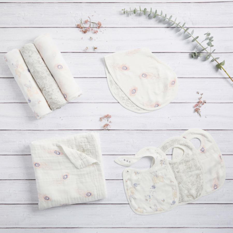 baby-blanket-silky-soft-muslin-feather-flowers