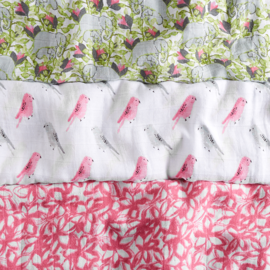 muslin-swaddle-blanket-pink-green-elephant