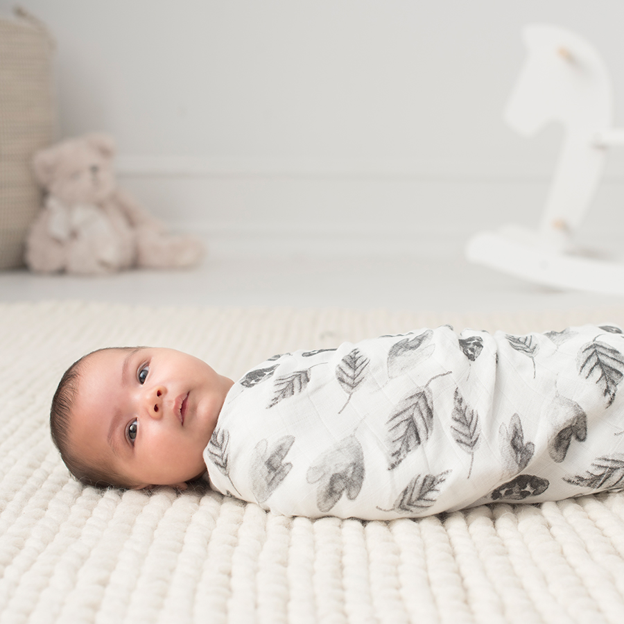 silky-soft-muslin-baby-swaddle-single-bear-leaf-boy-foragers-white-label