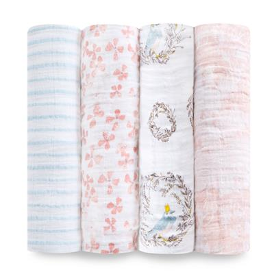 muslin-swaddle-bird-flower-bow-nest-pink