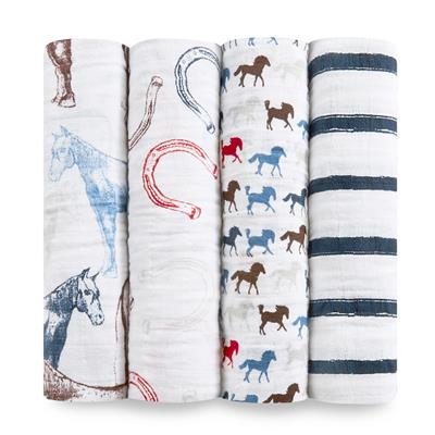 muslin-swaddle-horse-stripe-navy-blue-red