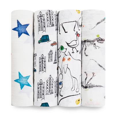 swaddle-muslin-baby-4pk-color-pop-city-dino-animal