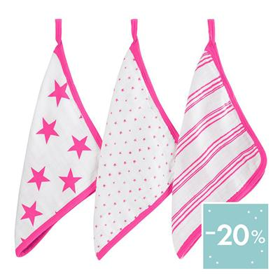 washcloth-muslin-stars-stripes-pink