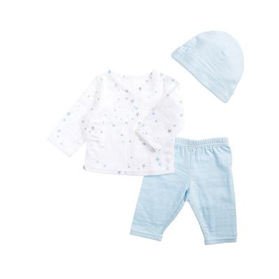 muslin-baby-clothing-newborn-set-blue-stars