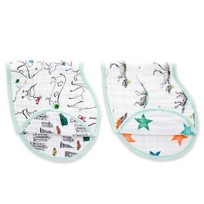 muslin-baby-burpy-bib-2pk-colour-pop-city-dino-animal