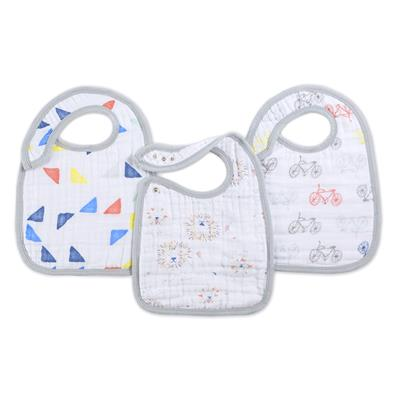 leader-of-the-pack-baby-cotton-muslin-snap-bibs