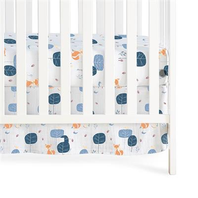 crib-skirt-organic-muslin-fox-woods
