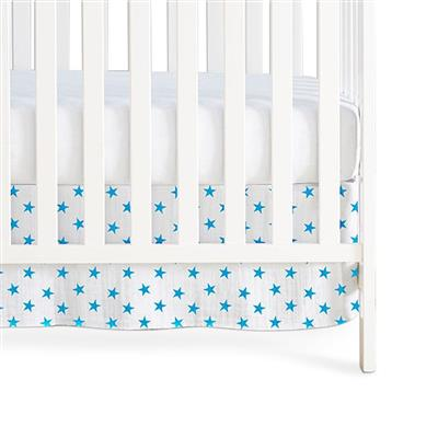 crib-skirt-muslin-blue-stars