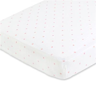muslin-crib-sheet-rose-water-dot