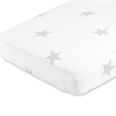 crib-sheet-muslin-silver-star