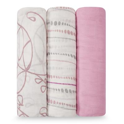 swaddle-muslin-silky-soft-pink-leaf