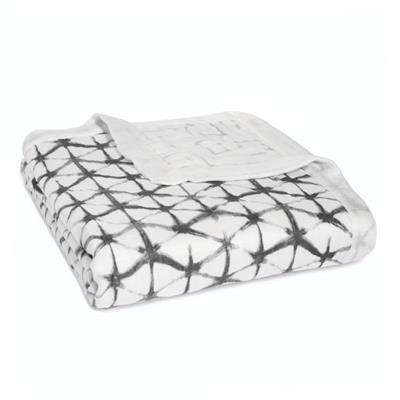 Aden /& Anais Oversized Silky Soft Muslin Baby Blanket Pebble Shibori NEW