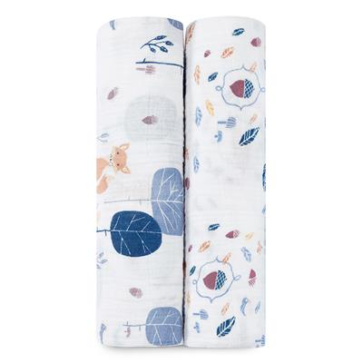 organic-baby-muslin-swaddles-fox-blue-into-the-woods