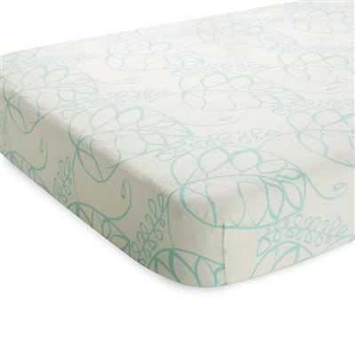 crib-sheet-muslin-silky-soft-blue-leaf