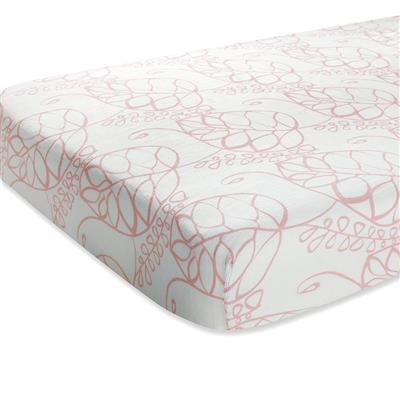 crib-sheet-muslin-silky-soft-pink-leaf
