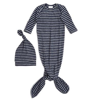 snuggle-knit-knotted-gown-hat-set-navy