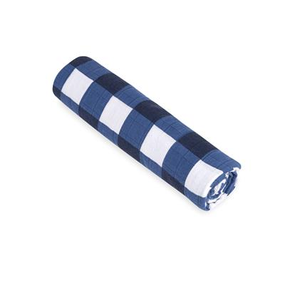 muslin-swaddle-blanket-navy-blue-gingham