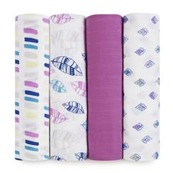 swaddle-muslin-pink-blue-feather