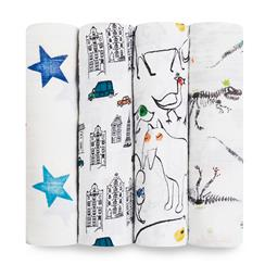 swaddle-muslin-baby-4pk-colour-pop-city-dino-animal