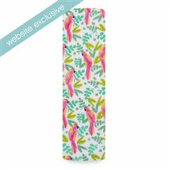 muslin-swaddle-pink-green-parrot