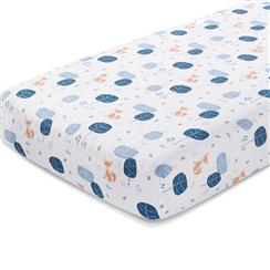 crib-sheet-organic-muslin-fox-woods
