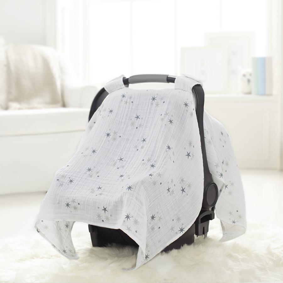 car-seat-canopy-muslin-grey-star-twinkle & Car Seat Canopy | Twinkle | Breathable Cotton Muslin | aden + anais