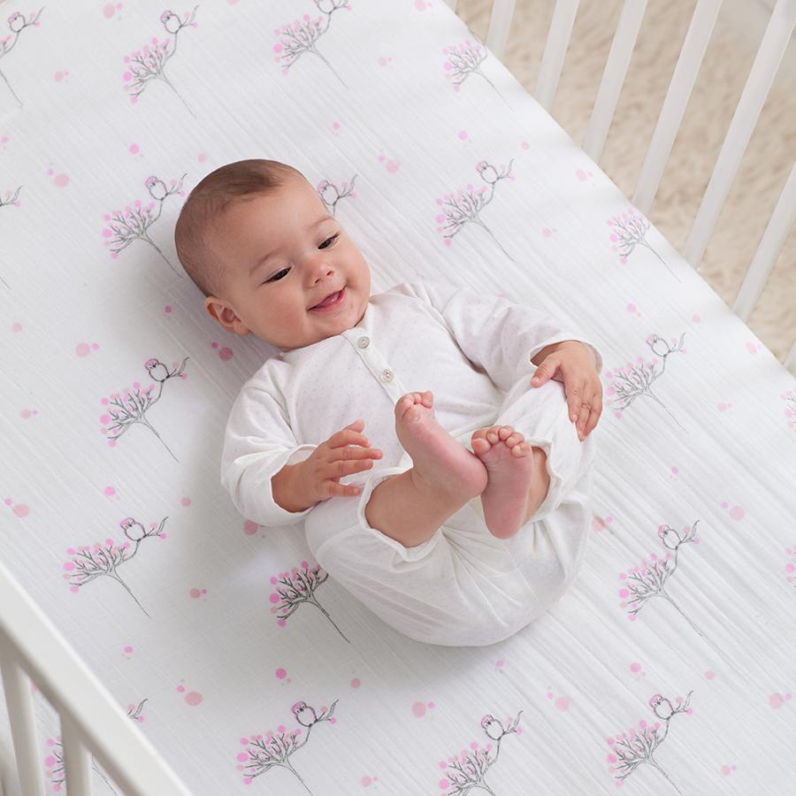 crib-sheet-muslin-baby-pink-owl